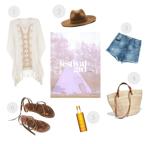 1. Warehouse Kaftan- 345 RON 2. rag & bone Fedora- 775 RON 3. Zara Denim Shorts- 105 RON 4. Bamboula Ltd. & Madewell Tote Bag- 310 RON 5. Clarins New Sun Care Milk-Lotion- 125 RON 6. K JACQUES sandals -560 RON